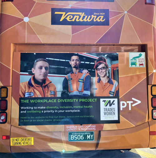 Ventura is a proud supporter and participant in the Tradeswomen Australia Workplace Diversity Project.